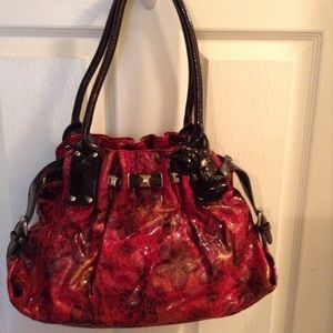 Handbags - Red floral purse